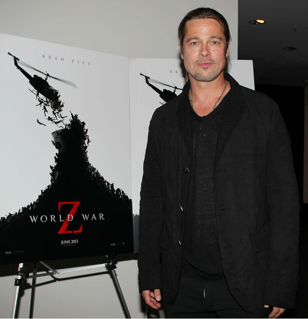 Co-host Brad Pitt appears at a special tastemaker screening of Paramount Pictures&#39; new film &#39;World War Z&#39; at The Museum of Modern Art in New York on Wednesday, May 22, 2013. <span class=meta>(Dave Allocca &#47; Startraks for Paramount Pictures)</span>