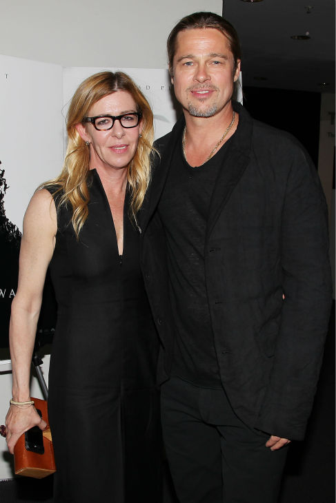 Co-host Brad Pitt and producer Dede Gardner appear at a special tastemaker screening of Paramount Pictures' new film 'World War Z' at The Museum of Modern Art in New York on Wednesday, May 22, 2013.