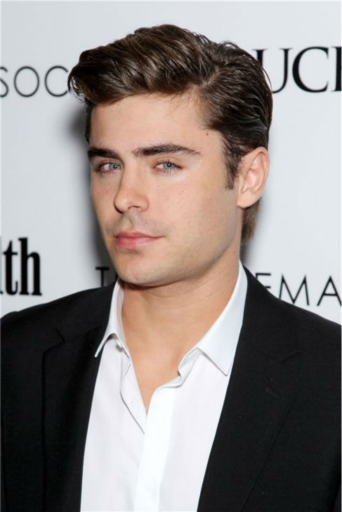 Zac Efron attends a screening of 'The Lucky One,' presented by the Cinema Society and Men's Health, in New York on April 19, 2012.