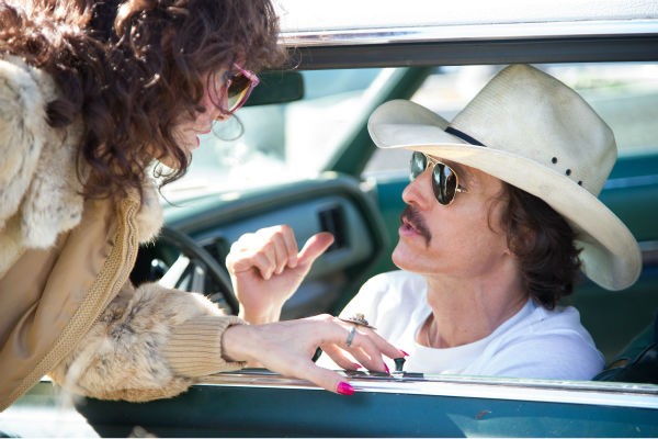 Jared Leto stars as Rayon and Matthew McConaughey stars as Ron Woodroof  -- both AIDS patents -- in Jean-Marc Vallee's 2013 fact-based drama film, 'Dallas Buyers Club,' a Focus Features release.