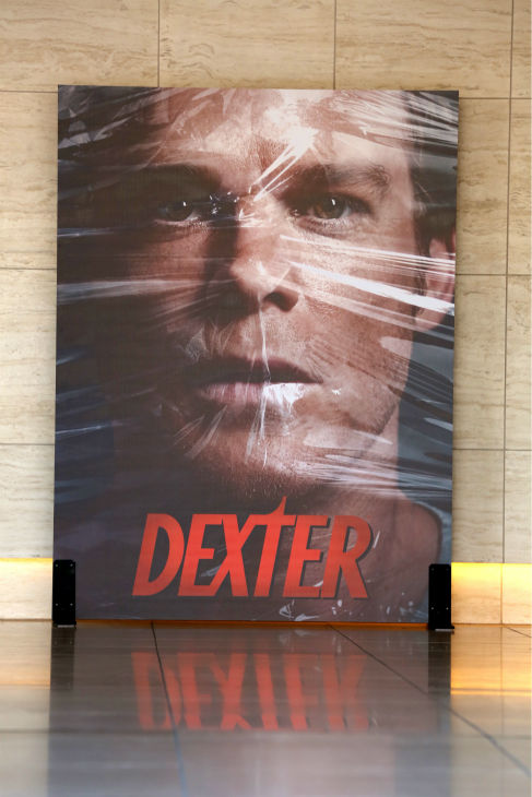 A poster of Michael C. Hall as Dexter seen at Showtime&#39;s premiere of &#39;Dexter&#39; season 8 in Los Angeles on June, 15, 2013 <span class=meta>(Eric Charbonneau &#47; Invision for Showtime)</span>