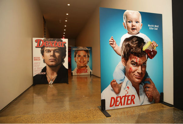 "<div class=""meta ""><span class=""caption-text "">Posters of Michael C. Hall as Dexter seen at Showtime's premiere of 'Dexter' season 8 in Los Angeles on June, 15, 2013. (Eric Charbonneau / Invision for Showtime)</span></div>"