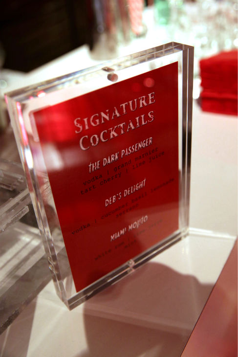 A menu of signature &#39;Dexter&#39; cocktails is seen at Showtime&#39;s premiere of &#39;Dexter&#39; season 8 in Los Angeles on June, 15, 2013. <span class=meta>(Eric Charbonneau &#47; Invision for Showtime)</span>