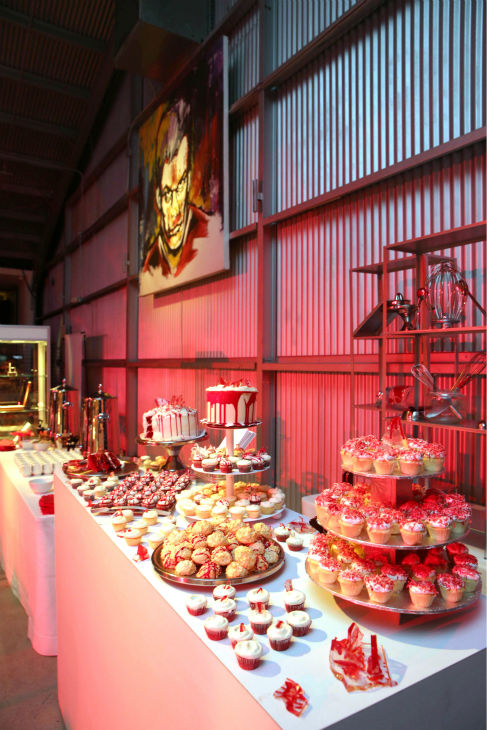 Bloody delicious cupcakes are displayed at Showtime&#39;s premiere of &#39;Dexter&#39; season 8 in Los Angeles on June, 15, 2013. <span class=meta>(Eric Charbonneau &#47; Invision for Showtime)</span>