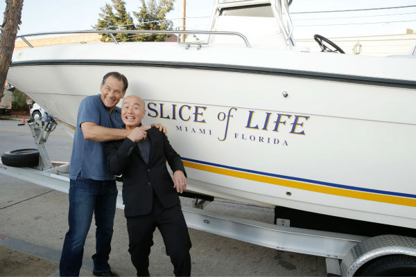 "<div class=""meta ""><span class=""caption-text "">James Remar (Harry, seasons 1-8) and C.S. Lee (Masuka, seasons 1-8) pose next to Dexter's boat, 'Slice of Life,' at Showtime's premiere of 'Dexter' season 8 in Los Angeles on June, 15, 2013. (Eric Charbonneau / Invision for Showtime)</span></div>"