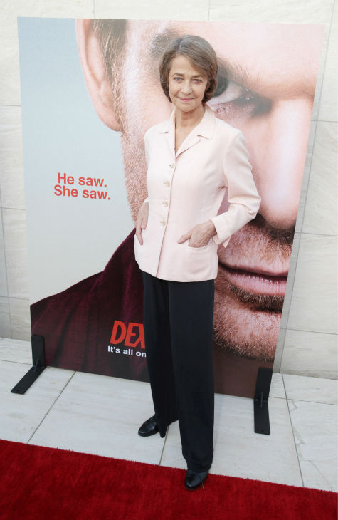 "<div class=""meta ""><span class=""caption-text "">Charlotte Rampling (Dr. Evelyn Vogel, season 8) appears at Showtime's premiere of 'Dexter' season 8 in Los Angeles on June, 15, 2013. (Eric Charbonneau / Invision for Showtime)</span></div>"