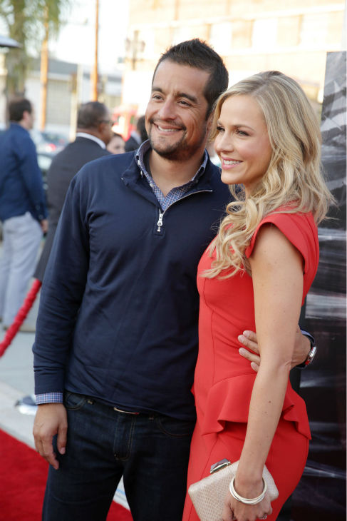 Julie Benz &#40;Rita, seasons 1-4&#41; and husband Rich Orosco appear at Showtime&#39;s premiere of &#39;Dexter&#39; season 8 in Los Angeles on June, 15, 2013. <span class=meta>(Eric Charbonneau &#47; Invision for Showtime)</span>