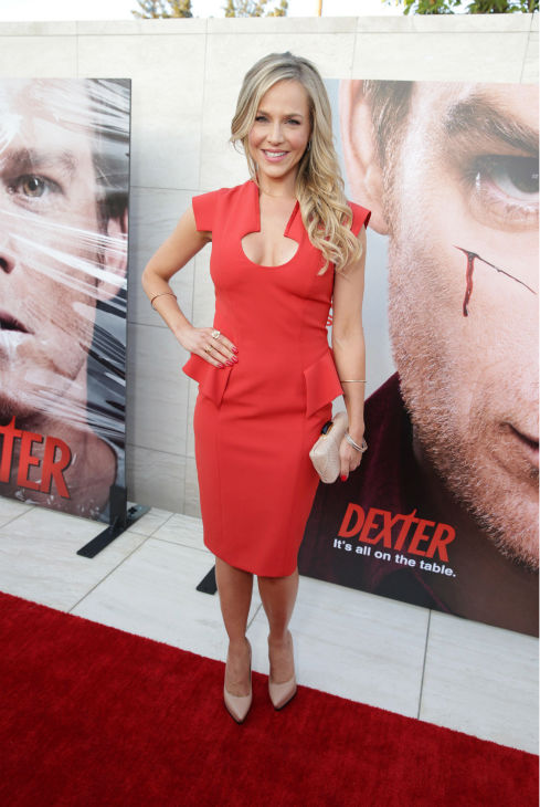 "<div class=""meta ""><span class=""caption-text "">Julie Benz (Rita, seasons 1-4) appears at Showtime's premiere of 'Dexter' season 8 in Los Angeles on June, 15, 2013. (Eric Charbonneau / Invision for Showtime)</span></div>"