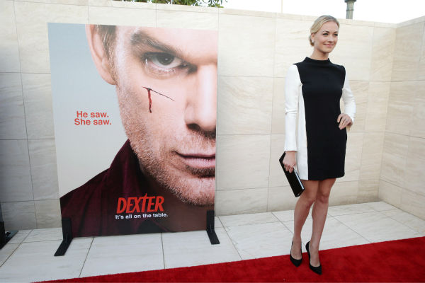 "<div class=""meta ""><span class=""caption-text "">Yvonne Strahovski (Hannah, seasons 7-8) appears at Showtime's premiere of 'Dexter' season 8 in Los Angeles on June, 15, 2013. (Eric Charbonneau / Invision for Showtime)</span></div>"
