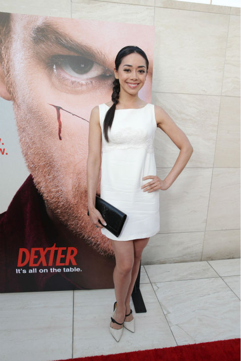 "<div class=""meta ""><span class=""caption-text "">Aimee Garcia (Jamie, seasons 6-8) appears at Showtime's premiere of 'Dexter' season 8 in Los Angeles on June, 15, 2013. (Eric Charbonneau / Invision for Showtime)</span></div>"