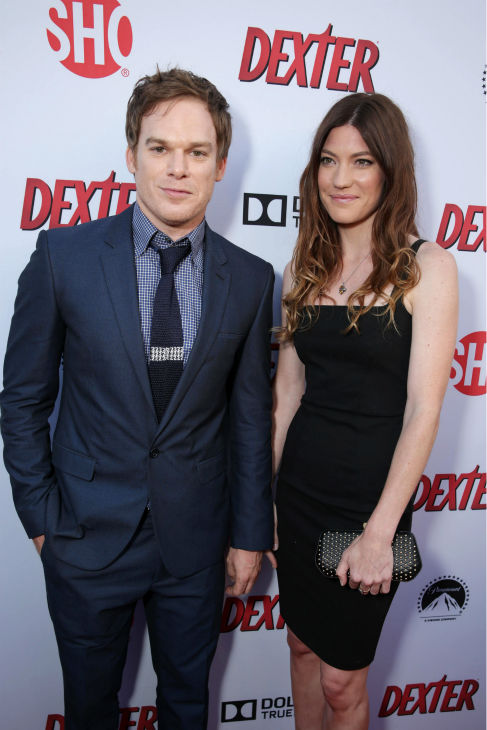 Michael C. Hall &#40;Dexter, seasons 1-8&#41; and ex-wife and co-star Jennifer Carpenter &#40;Debra, seasons 1-8&#41; appear at Showtime&#39;s premiere of &#39;Dexter&#39; season 8 in Los Angeles on June, 15, 2013. <span class=meta>(Eric Charbonneau &#47; Invision for Showtime)</span>