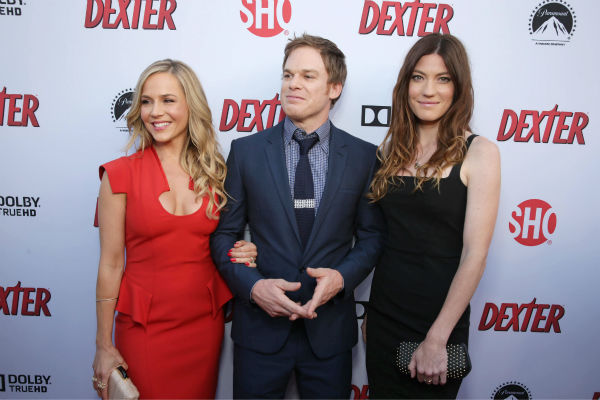 "<div class=""meta ""><span class=""caption-text "">Julie Benz (Rita, seasons 1-4) Michael C. Hall (Dexter, seasons 1-8) and ex-wife and co-star Jennifer Carpenter (Debra, seasons 1-8) appear at Showtime's premiere of 'Dexter' season 8 in Los Angeles on June, 15, 2013. (Photo/Eric Charbonneau)</span></div>"