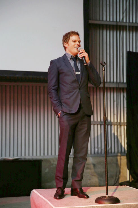 Michael C. Hall &#40;Dexter, seasons 1-8&#41; appears on stage at Showtime&#39;s premiere of &#39;Dexter&#39; season 8 in Los Angeles on June, 15, 2013. <span class=meta>(Eric Charbonneau &#47; Invision for Showtime)</span>