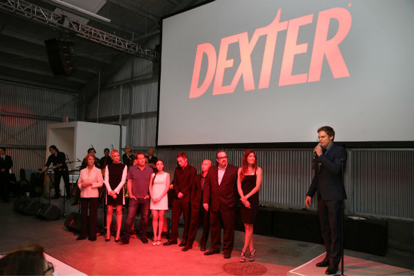 "<div class=""meta ""><span class=""caption-text "">The cast of 'Dexter' appears on stage at Showtime's premiere of season 8 in Los Angeles on June, 15, 2013. (Eric Charbonneau / Invision for Showtime)</span></div>"
