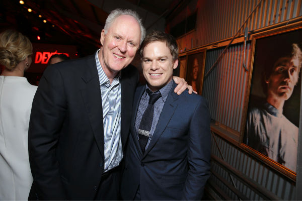 John Lithgow &#40;Trinity Killer, season 4&#41; and Michael C. Hall &#40;Dexter, seasons 1-8&#41; appear at Showtime&#39;s premiere of &#39;Dexter&#39; season 8 in Los Angeles on June, 15, 2013. <span class=meta>(Eric Charbonneau &#47; Invision for Showtime)</span>