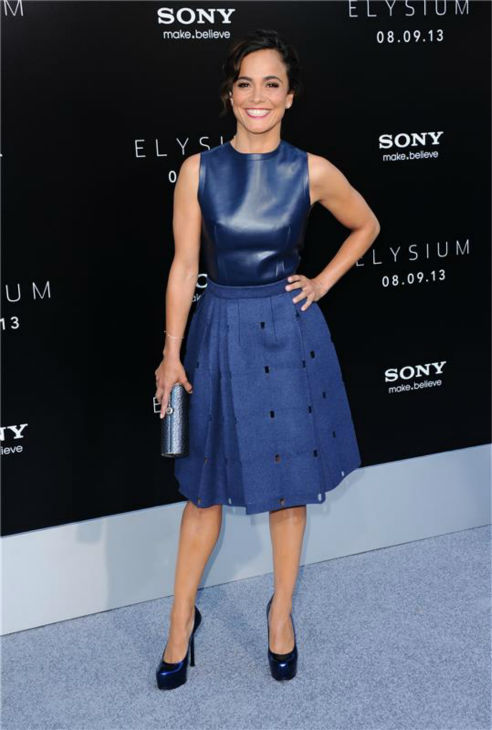 "<div class=""meta image-caption""><div class=""origin-logo origin-image ""><span></span></div><span class=""caption-text"">Stana Katic of ABC's 'Castle' attends the premiere of 'Elysium' in Los Angeles on Aug. 7, 2013. (Sara De Boer / startraksphoto.com)</span></div>"