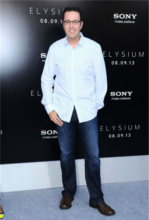 'Subway' spokesmodel Jared Fogel attends the premiere of 'Elysium' in Los Angeles on Aug. 7, 2013.