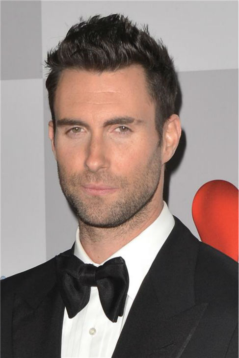 The &#39;007&#39; stare: Adam Levine attends NBC Universal&#39;s after party following the 2012 Golden Globes in Beverly Hills, California on Jan. 15, 2012. He is a celebrity coach on the network&#39;s hit show, &#39;The Voice.&#39; <span class=meta>(Tony DiMaio &#47; Startraksphoto.com)</span>