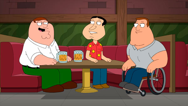 The cast of 'Family Guy' appears in a promotional photo.