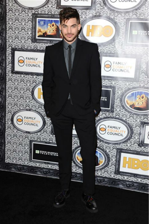 "<div class=""meta ""><span class=""caption-text "">Adam Lambert appear sat the Family Equality Council's Los Angeles Awards Dinner on Feb. 8, 2014. (Sara De Boer / Startraksphoto.com)</span></div>"