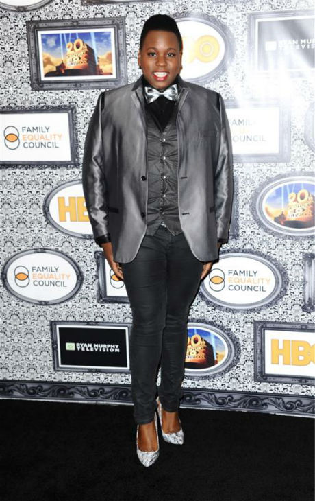 "<div class=""meta ""><span class=""caption-text "">Alex Newell (Unique on FOX's 'Glee') appears at the Family Equality Council's Los Angeles Awards Dinner on Feb. 8, 2014. (Sara De Boer / Startraksphoto.com)</span></div>"