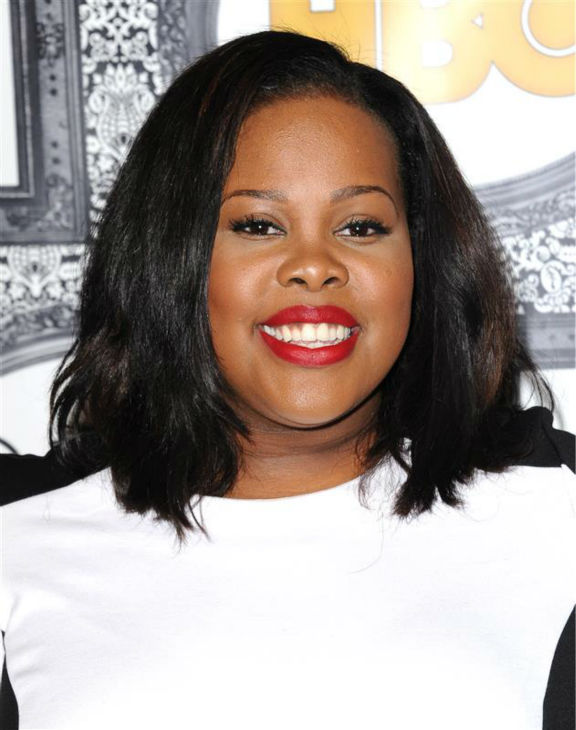 "<div class=""meta ""><span class=""caption-text "">Amber Riley (Mercedes on FOX's 'Glee') appears at the Family Equality Council's Los Angeles Awards Dinner on Feb. 8, 2014. (Sara De Boer / Startraksphoto.com)</span></div>"