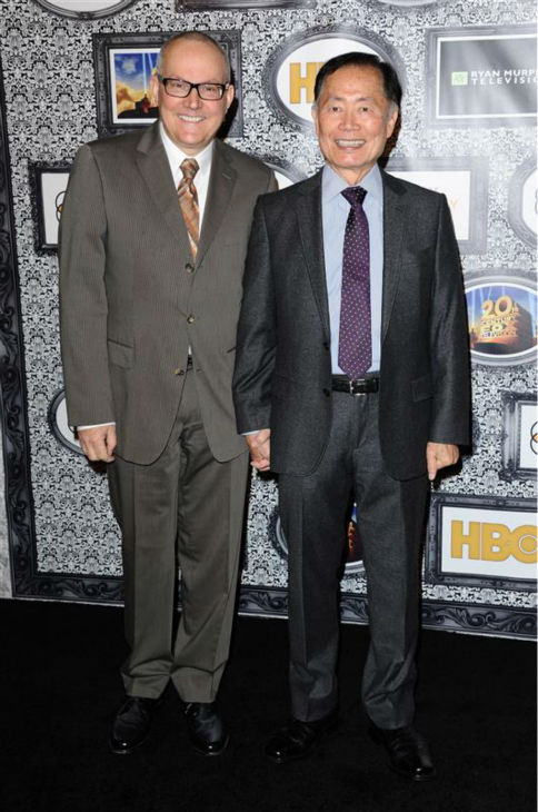 George Takei &#40;Sulu in the original &#39;Star Trek&#39; series and movies&#41; and husband Brad appear at the Family Equality Council&#39;s Los Angeles Awards Dinner on Feb. 8, 2014. <span class=meta>(Sara De Boer &#47; Startraksphoto.com)</span>