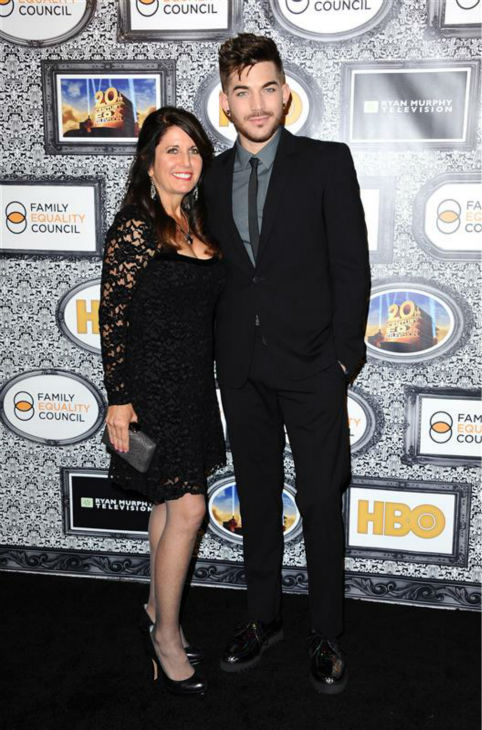 Adam Lambert and his mother, Leila Lambert, appear at the Family Equality Council&#39;s Los Angeles Awards Dinner on Feb. 8, 2014. <span class=meta>(Sara De Boer &#47; Startraksphoto.com)</span>