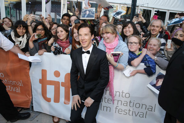 The time Benedict Cumberbatch made these fans very happy at the premiere of his new film &#39;The Fifth Estate,&#39; in which he plays WikiLeaks founder Julian Assange, at the 2013 Toronto International Film Festival in Toronto on Sept. 5, 2013. &#40;See more photos of Benedict Cumberbatch from the event.&#41; <span class=meta>(Eric Charbonneau &#47; Invision for DreamWorks Pictures &#47; AP Images)</span>