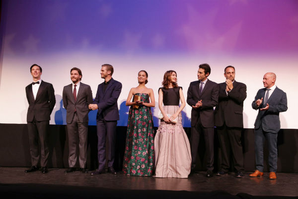 "<div class=""meta image-caption""><div class=""origin-logo origin-image ""><span></span></div><span class=""caption-text"">Benedict Cumberbatch, Daniel Bruhl, Dan Stevens, Alicia Vikander, Carice van Houten, screenwriter Josh Singer, producer Michael Sugar and producer Steve Golin appear at the screening of 'The Fifth Estate' at the 2013 Toronto International Film Festival in Toronto on Sept. 5, 2013. (Eric Charbonneau / Invision for DreamWorks Pictures / AP Images)</span></div>"