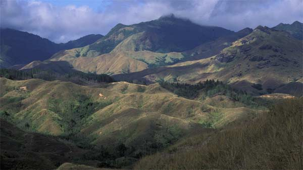 A view of Western Fiji is seen in this photo taken on June 22, 1998.
