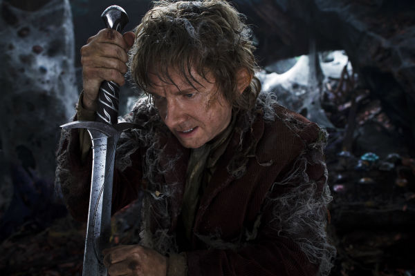 Martin Freeman appears as the Hobbit Bilbo Baggins in New Line Cinema's and Metro-Goldwyn-Mayer's fantasy adventure 'The Hobbit: The Desolation of Smaug,' a Warner Bros