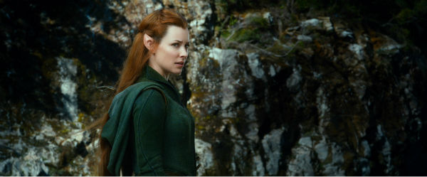 Evangeline Lilly appears as Tauriel in New Line Cinema's and Metro-Goldwyn-Mayer's fantasy adventure 'The Hobbit: The Desolation of Smaug,' a Warner Bros. Pictures release.