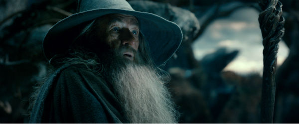 Ian McKellen appears as Gandalf in New Line Cinema's and Metro-Goldwyn-Mayer's fantasy adventure 'The Hobbit: The Desolation of Smaug,' a Warner