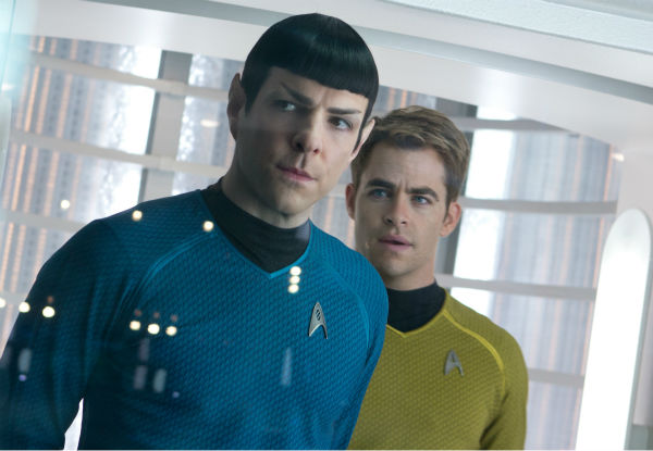 "<div class=""meta ""><span class=""caption-text "">Zachary Quinto (Spock) and Chris Pine (Kirk) appear in a scene from the 2013 film 'Star Trek Into Darkness.' (Zade Rosenthal / Paramount Pictures)</span></div>"
