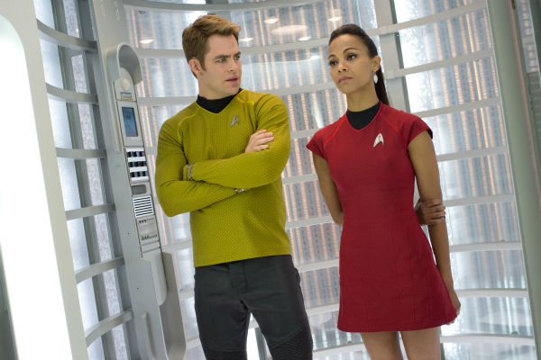 "<div class=""meta ""><span class=""caption-text "">Chris Pine (Kirk) and Zoe Saldana (Uhura) appear in a scene from the 2013 film 'Star Trek Into Darkness.' (Zade Rosenthal / Paramount Pictures)</span></div>"