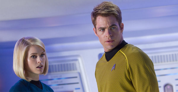 "<div class=""meta ""><span class=""caption-text "">Chris Pine (Kirk) and Alice Eve (Carol) appear in a scene from the 2013 film 'Star Trek Into Darkness.' (Zade Rosenthal / Paramount Pictures)</span></div>"