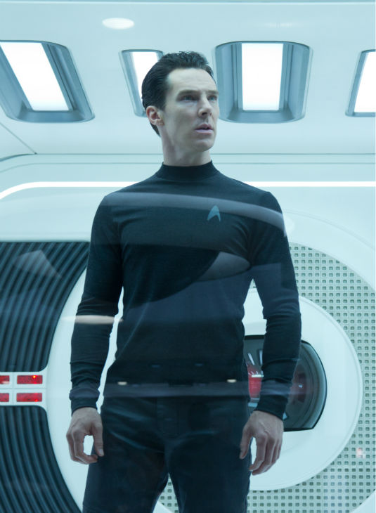 "<div class=""meta ""><span class=""caption-text "">Benedict Cumberbatch (villain John Harrison) appear in a scene from the 2013 film 'Star Trek Into Darkness.' (Zade Rosenthal / Paramount Pictures)</span></div>"