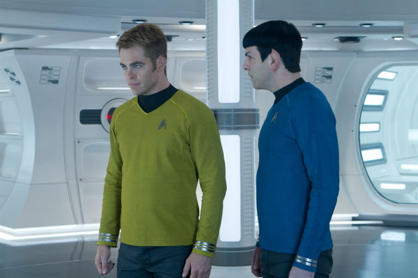 Chris Pine &#40;Kirk&#41; and Zachary Quinto &#40;Spock&#41; appear in a scene from the 2013 film &#39;Star Trek Into Darkness.&#39; <span class=meta>(Zade Rosenthal &#47; Paramount Pictures)</span>