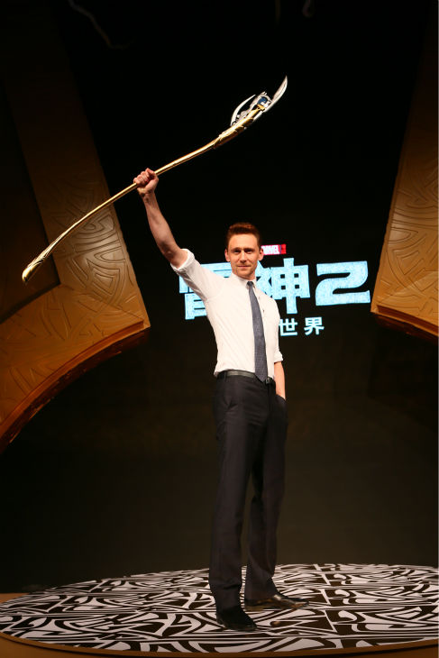 Tom Hiddleston appears at a 'Thor: The Dark World' fan event in Beijing, China on Oct. 11, 2013.