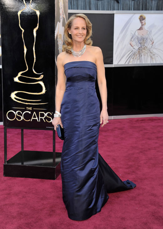 Actress Helen Hunt arrives at the Oscars at the...