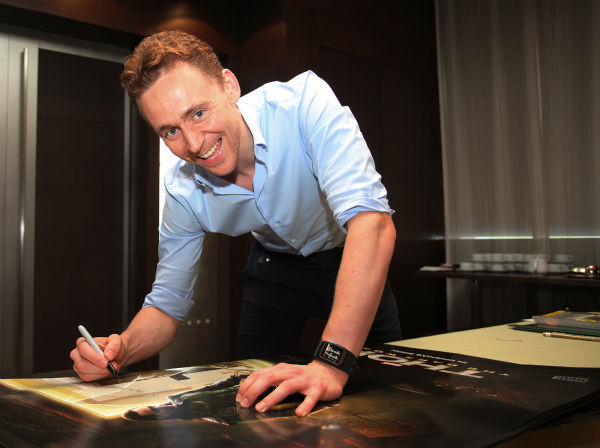 "<div class=""meta image-caption""><div class=""origin-logo origin-image ""><span></span></div><span class=""caption-text"">Tom Hiddleston appears at a 'Thor: The Dark World' fan event in Beijing, China on Oct. 11, 2013. (Walt Disney Studios)</span></div>"