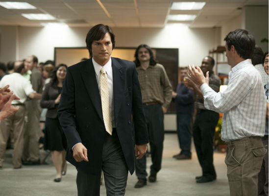 Ashton Kutcher appears as Apple founder and CEO Steve Jobs in this scene from the 2013 film 'Jobs.'