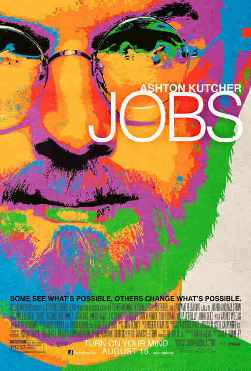 Ashton Kutcher appears as Steve Jobs in this scene from the 2013 film 'Jobs.' Jobs, the founder of Apple, died in October 2011.