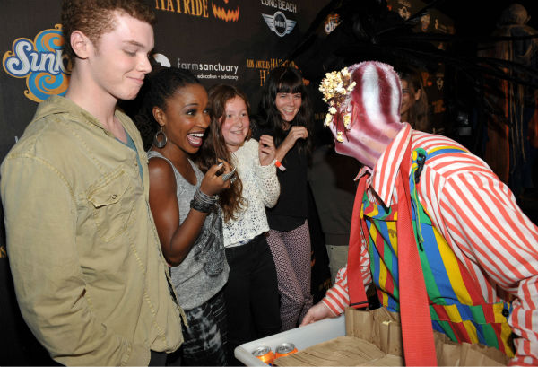 Cameron Monaghan, Shanola Hampton and Emma Kenney of the Showtime series &#39;Shameless&#39; attend the 4th Annual Los Angeles Haunted Hayride VIP Premiere Night held at Griffith Park on Sunday, Oct. 7, 2012.  <span class=meta>(John Shearer&#47;Invision for LAHH&#47;AP Images)</span>