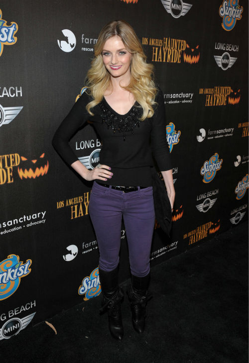 Lydia Hearst-Shaw attends the 4th Annual Los Angeles Haunted Hayride VIP Premiere Night held at Griffith Park on Sunday, Oct. 7, 2012. <span class=meta>(John Shearer&#47;Invision for LAHH&#47;AP Images)</span>