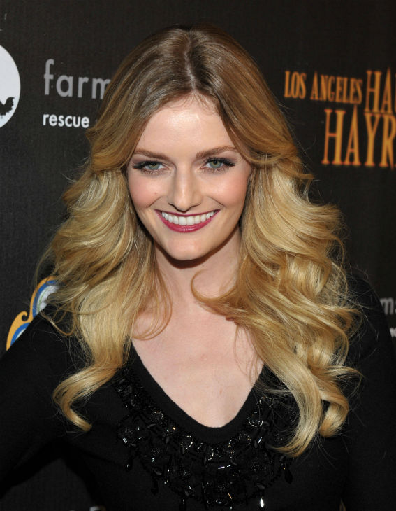Lydia Hearst-Shaw attends the 4th Annual Los Angeles Haunted Hayride VIP Premiere Night held at Griffith Park on Sunday, Oct. 7, 2012. <span class=meta>(Photo&#47;John Shearer)</span>