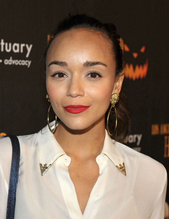 Ashley Madekwe of 'Revenge' attends the 4th Annual Los Angeles Haunted Hayride VIP Premiere Night held at Griffith Park on Sunday, Oct. 7, 2012.