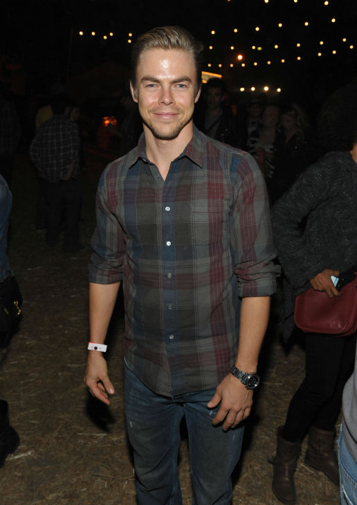 "<div class=""meta ""><span class=""caption-text "">Derek Hough of 'Dancing With The Stars' attends the 4th Annual Los Angeles Haunted Hayride VIP Premiere Night held at Griffith Park on Sunday, Oct. 7, 2012. (Photo/John Shearer)</span></div>"