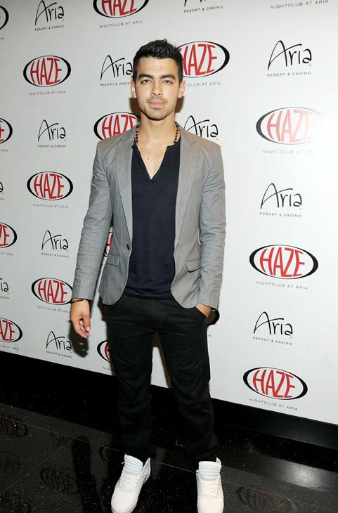 Joe Jonas arrives at HAZE Nightclub for his...